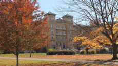 Le Fer Hall in the fall