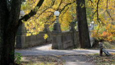 The Grotto Bridge in fall