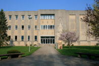 Front view of Rooney Library