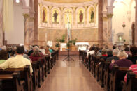 Congregation of people at mass