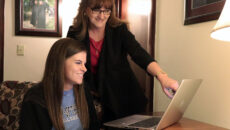 Financial aid officer helping student