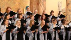 Madrigals singing at a concert