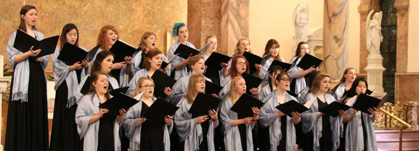 Madrigals singing at a concert
