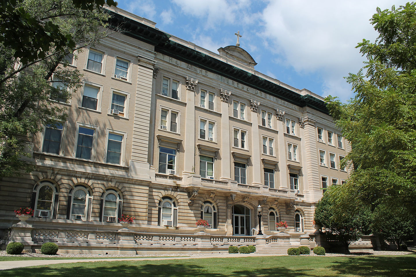 Front view of Guerin Hall