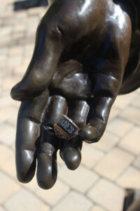 Hand of saint Mother Theodore Guerin Sculpture with ring