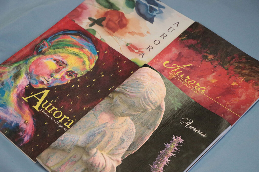 A group of Aurora Magazines