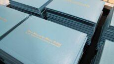 Stacks of diplomas