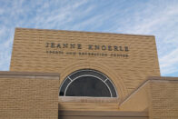 Front of the Jeanne Knoerle Sports and Recreation Center