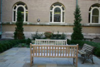 Benches in the Guerin Courtyard