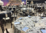 The main gym decorated for the President's Gala