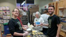 Volunteers baking