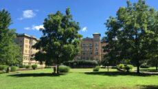 Le Fer Hall with Blue Sky