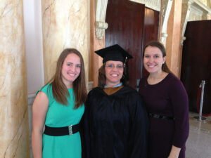McCord and her daughters at the 2013 graduation