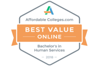 AffordableColleges.com Best Value Online Bachelor's in Human Services 2018