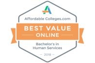 AffordableColleges.com Best Value Online Bachelor's in Human Services 2018