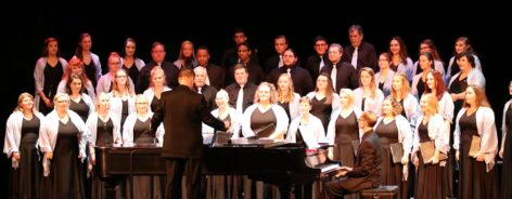 The SMWC Chorale, Vocal Ensemble, and Madrigals sing for the 2017 homecoming concert.