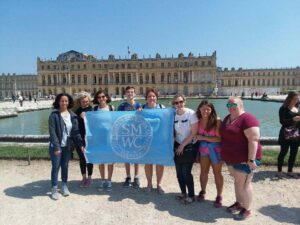 Monica Baez-Holley, Ph.D., associate professor of French and Spanish, led a group of eight participants on a nine-day visit to France.