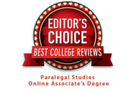 Editor's Choice - Best College Reviews: Paralegal Studies Online Associate's Degree