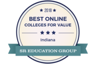 2018 Best Online Colleges for Value - Indiana - SR Education Group