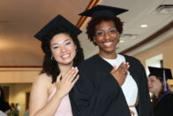 Students show off their rings during the Ring Day reception.