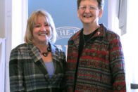 President King and Sister Dawn stand together at the announcement