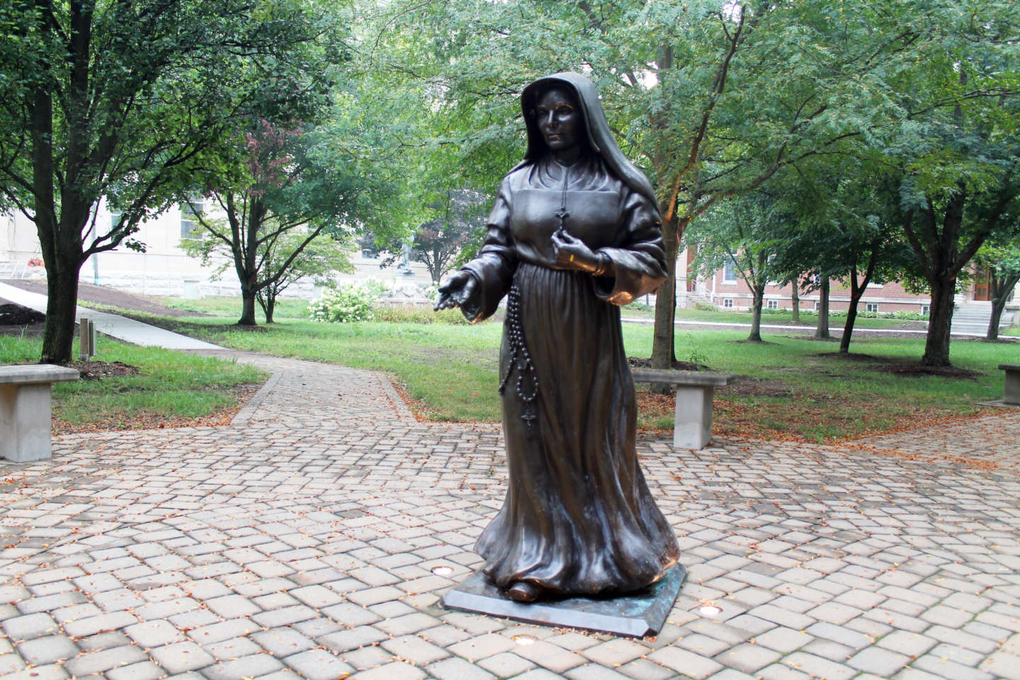 The Saint Mother Theodore Guerin Statue.