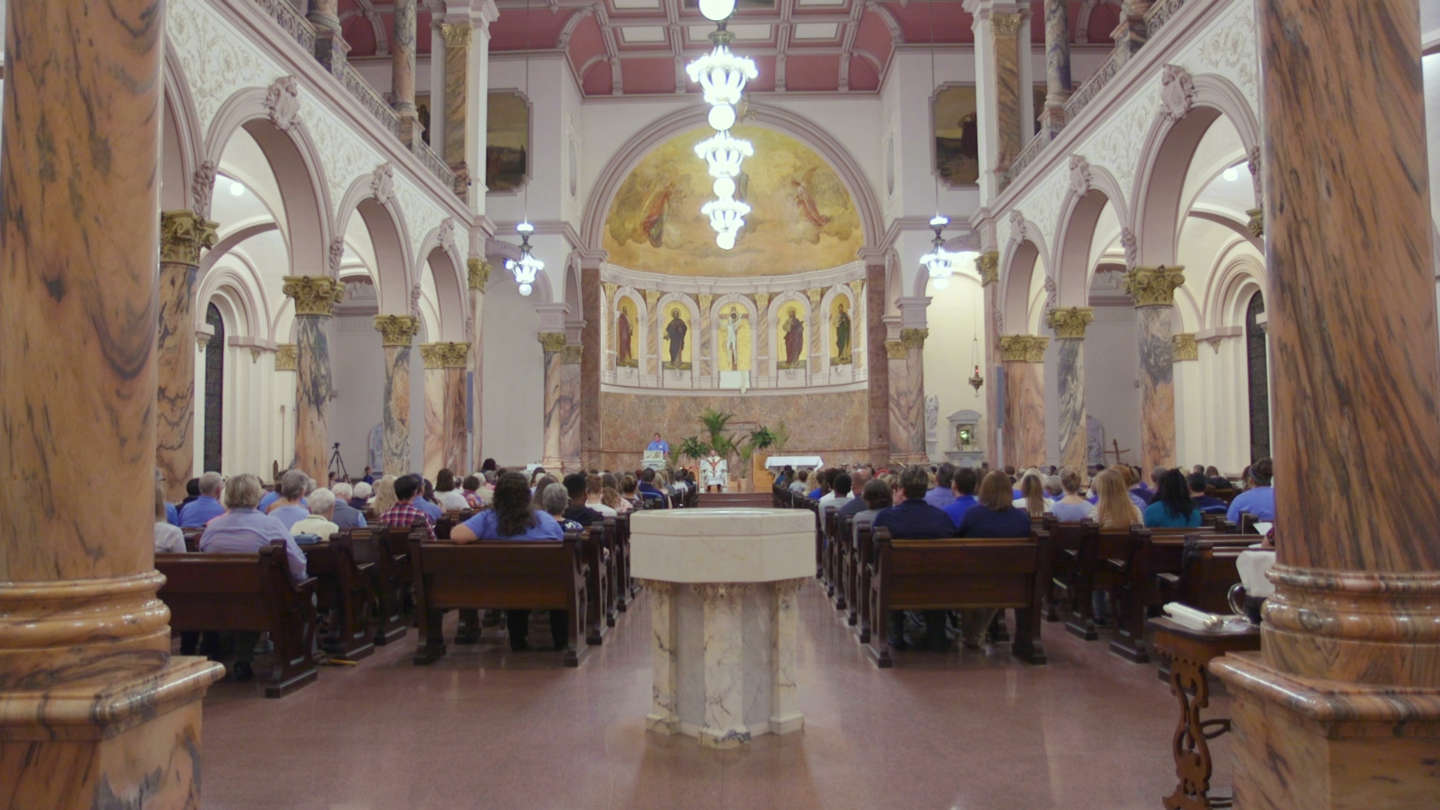 Interior shot of the Church of the Immaculate Inception