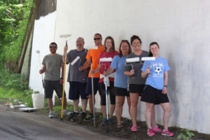 The volunteer painting group