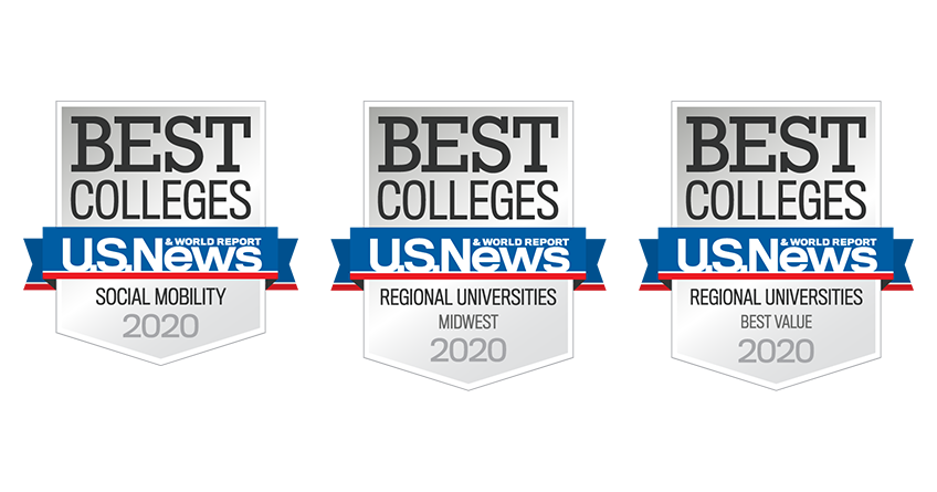 Best Colleges - U.S. News & World Report - Regional Universities - Social Mobility, Midwest, Best Value - 2020