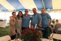 Alumni at Homecoming in Food Tent