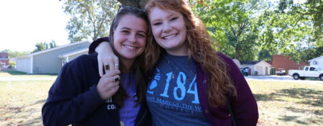 Sarah Wichman and Shannon Sonderman at homecoming