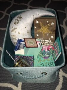 Basket of star themed gifts