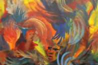 Painting depicting swirling emotions