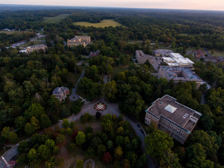 Aerial photo of the campus