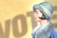 Illustration commemorating the 19th amendment