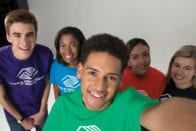 Boys & Girls club students taking selfie