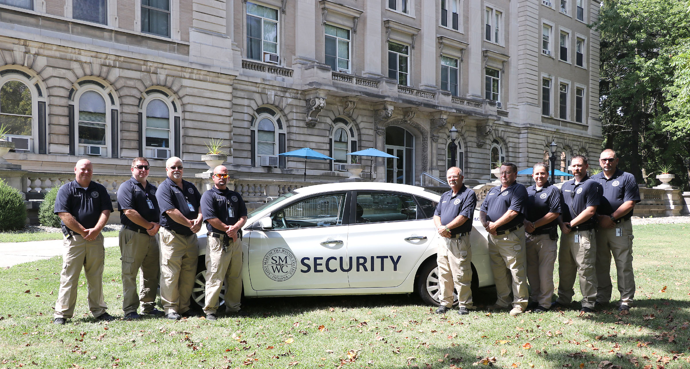 Campus Security with car