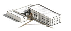 Render of the new residence hall