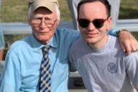 Nathan Stroup and Dr. Paul at homecoming