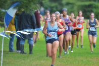 SMWC cross country runner leading in race