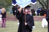 Pache carrying in a SMWC banner during Ring Day