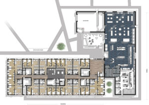 Floor plan of the new residence and dining hall