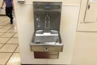 A bottle-filling water fountain at SMWC