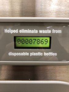 The count of bottles saved at a filling station