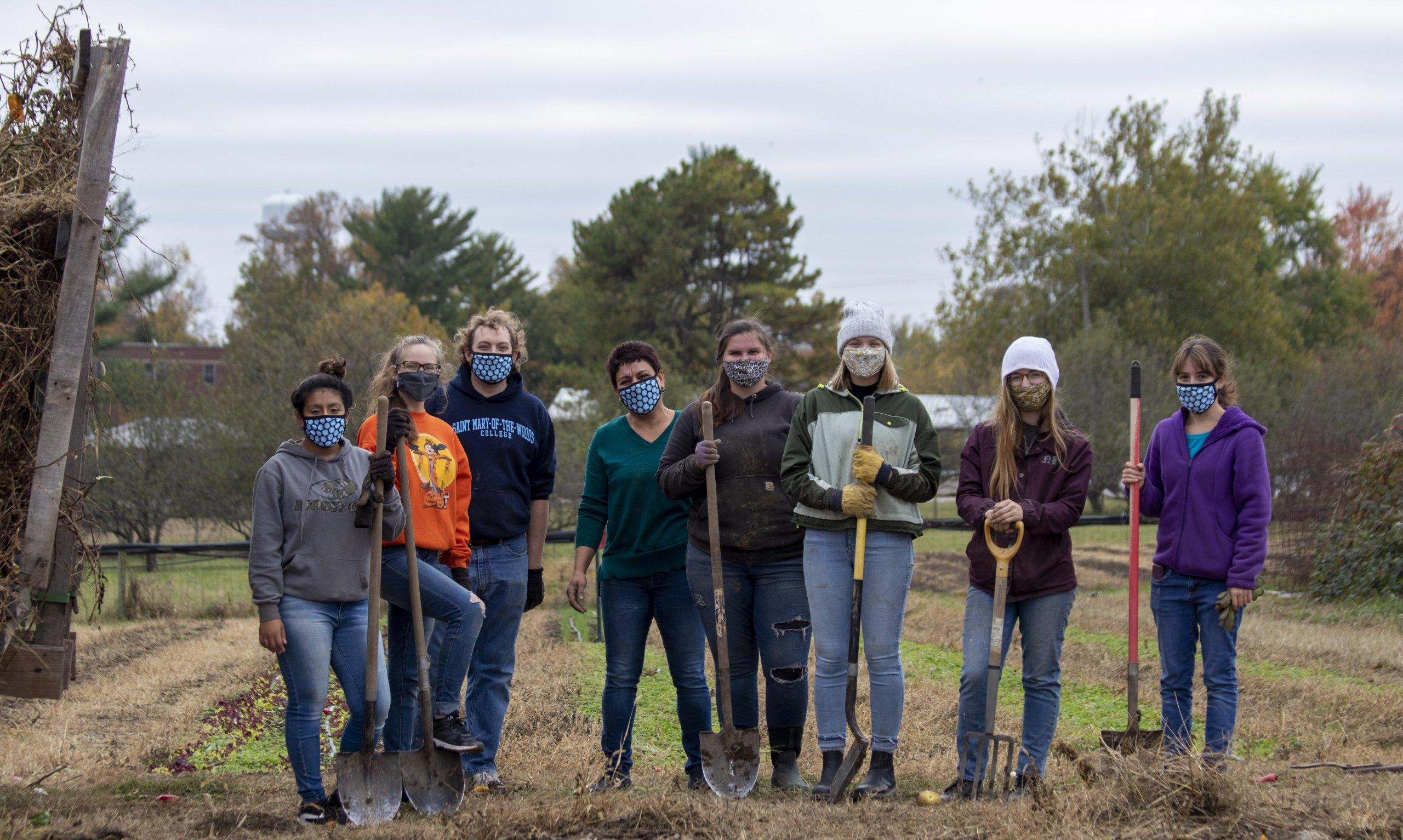 White Violet Center volunteers