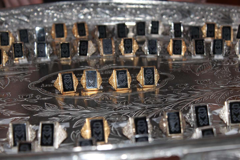 tray of rings at Ring Day 2016