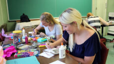 MAAT students work on art projects in classroom