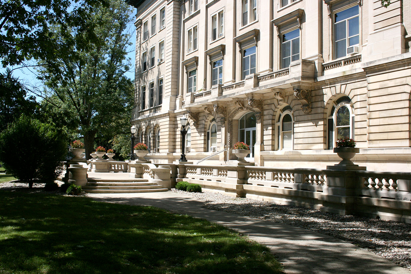 Angled front view of Guerin Hall