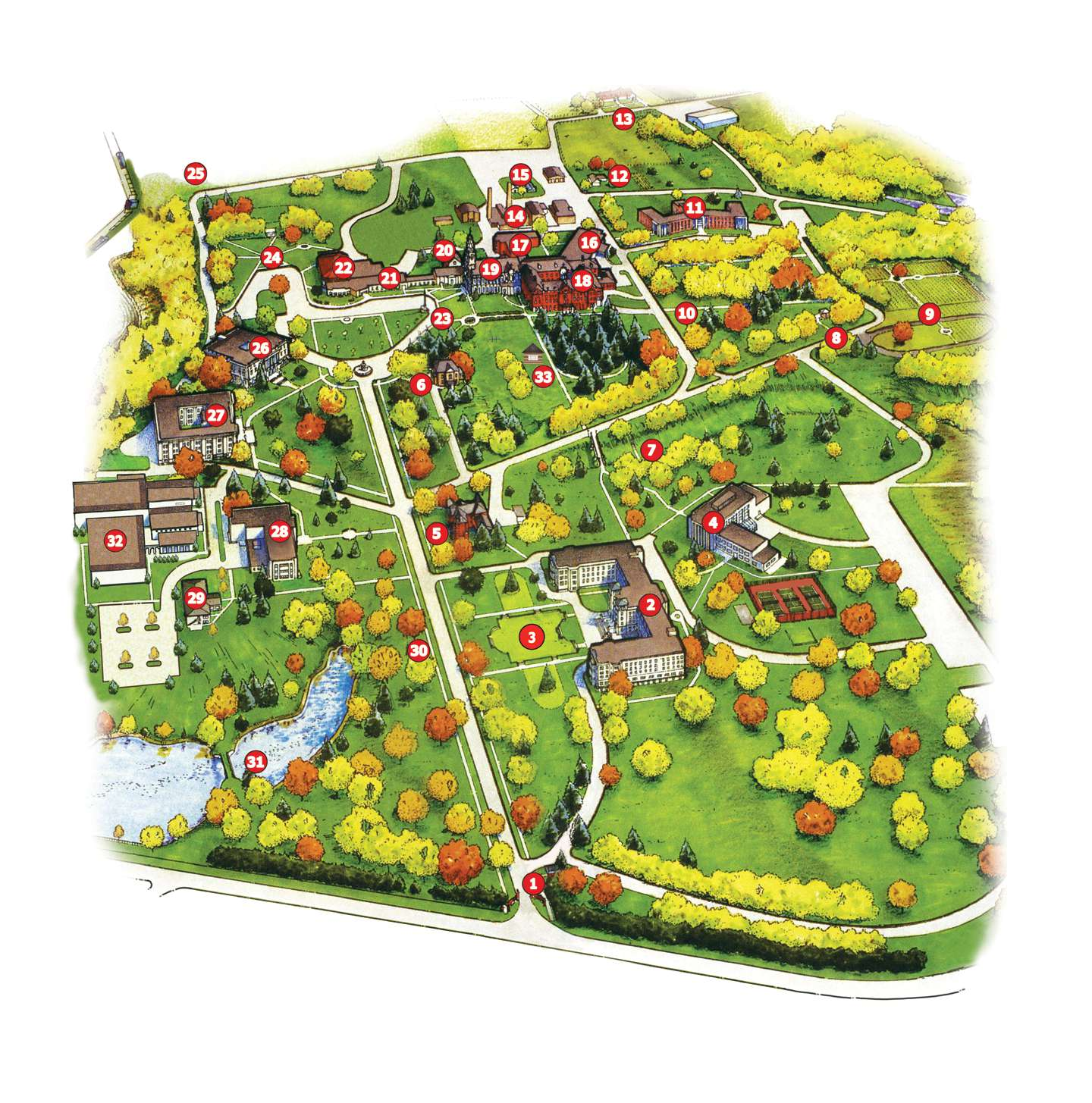 Campus Map Saint Mary Of The Woods College