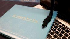 SMWC diploma, cap and keyboard